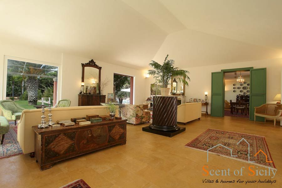 Villa Lilybeum the big living room