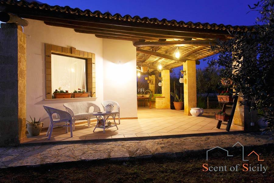 Villa Gio, the patio in the evening