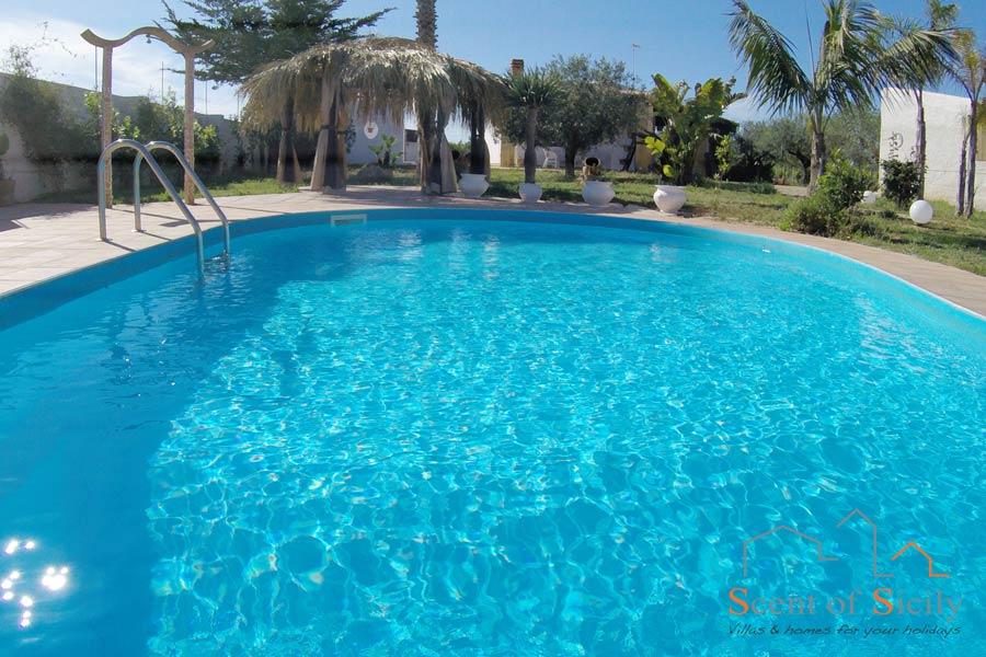 The pool of Villa Gio, Marsala, Western Sicily