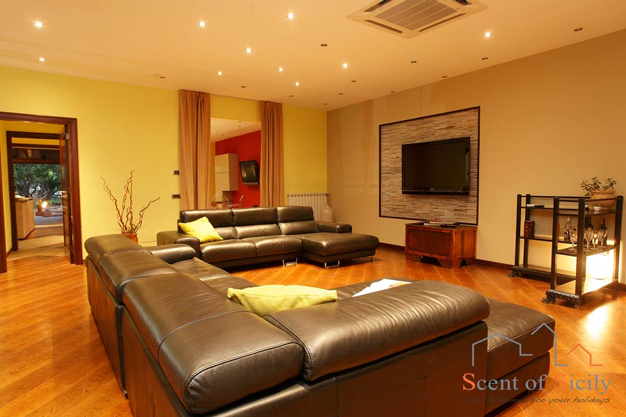 Big comfortable sofa in the living room