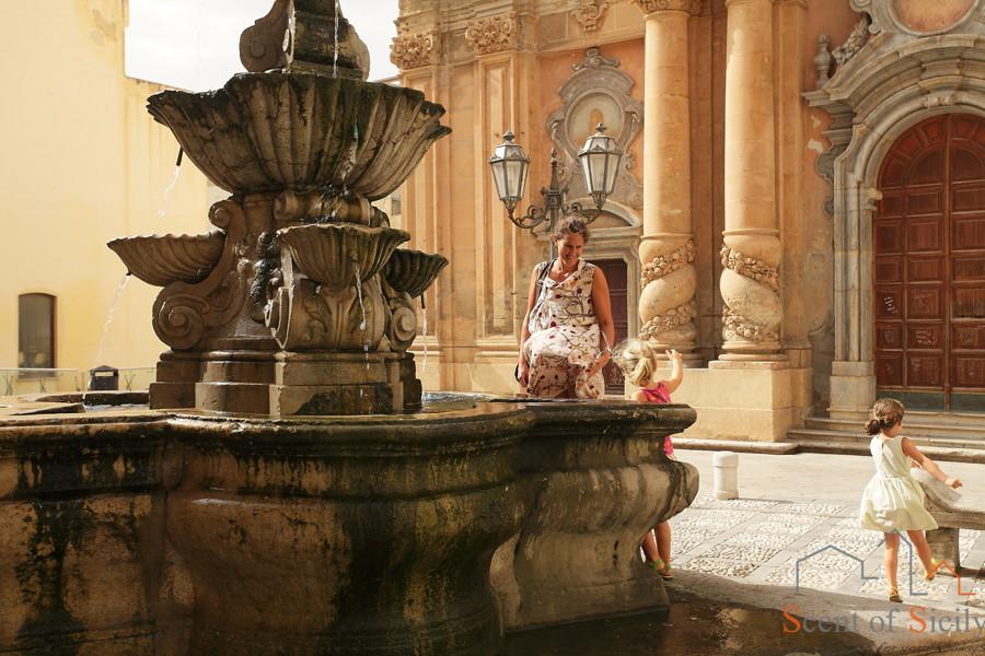 Marsala Western Sicily fountain