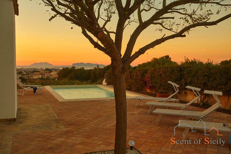 Villa Dorotea Marsala magic sunset