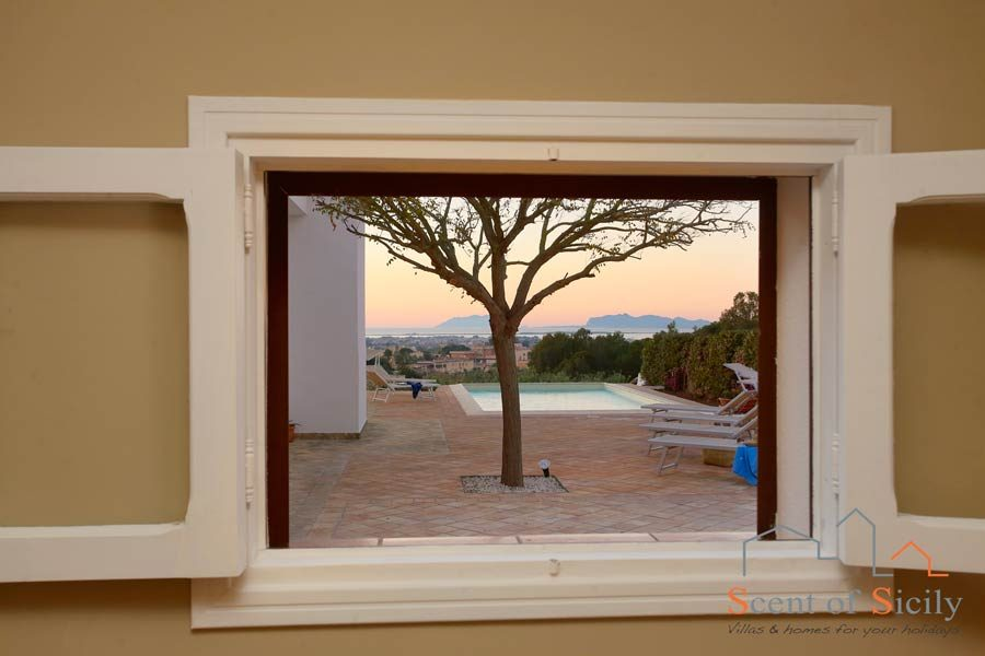 Villa Dorotea magic sunset from the depandance
