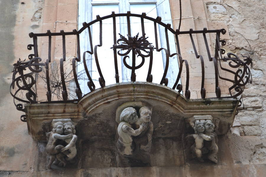 Balcony in a Sicilian Baroque town