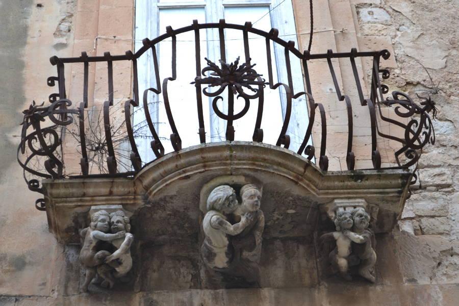 Balcony in a Sicilian Baroque town