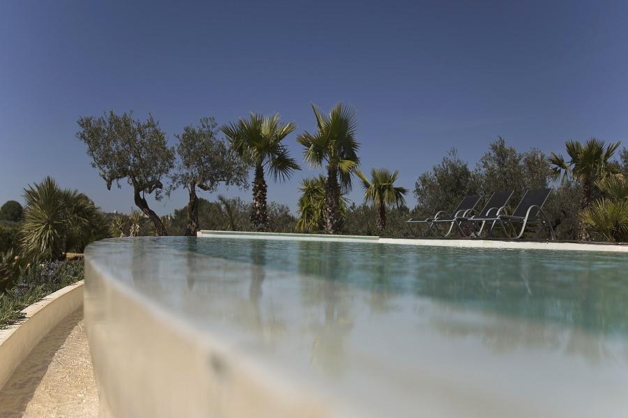 Infinity pool in Villa Oliver Trees, Castelvetrano Sicily