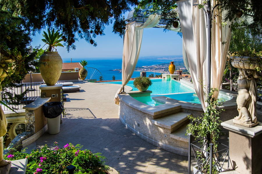 Sicily, Taormina, private pool area