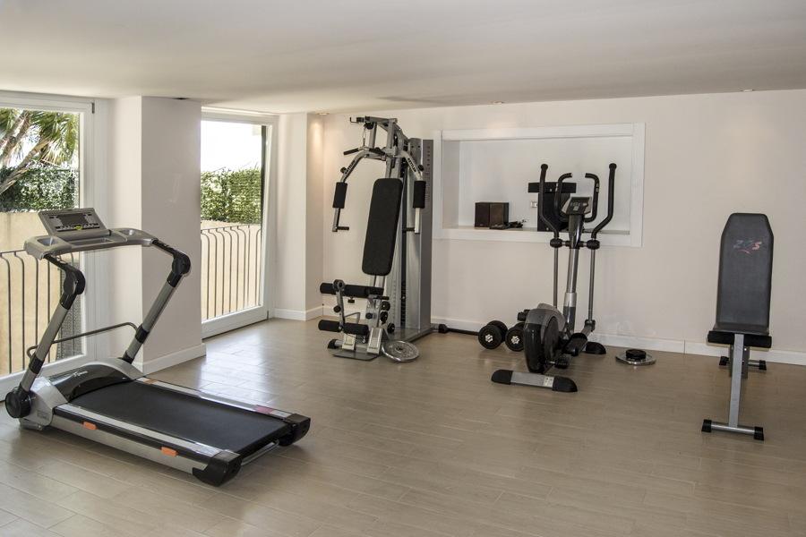 Sicily, Taormina, Villa White gym area