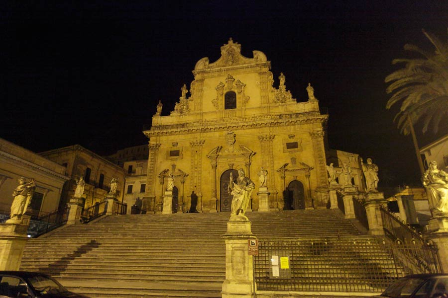 Modica Sicily in the evening