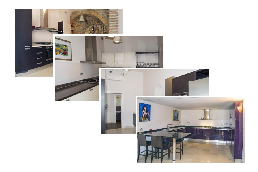 Sicily, Taormina, Villa Taormina kitchens