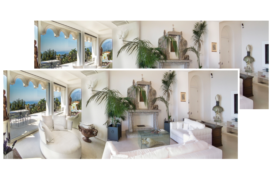 Sicily, Taormina, Villa Taormina relax area in living room