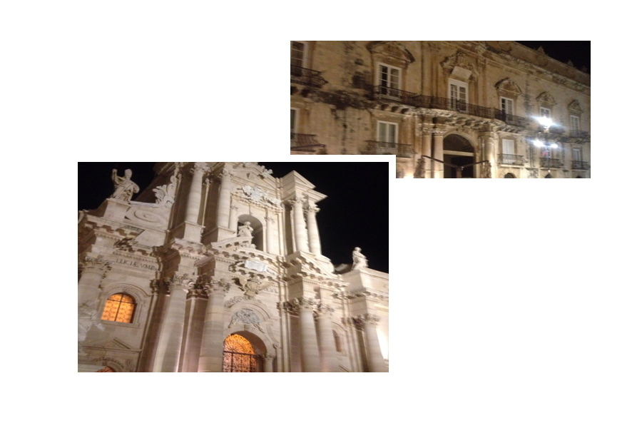 Syracuse Ortigia by night