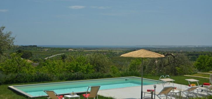 Villa Marsh Harrier, Noto area, Sicily, view from the swimming pool