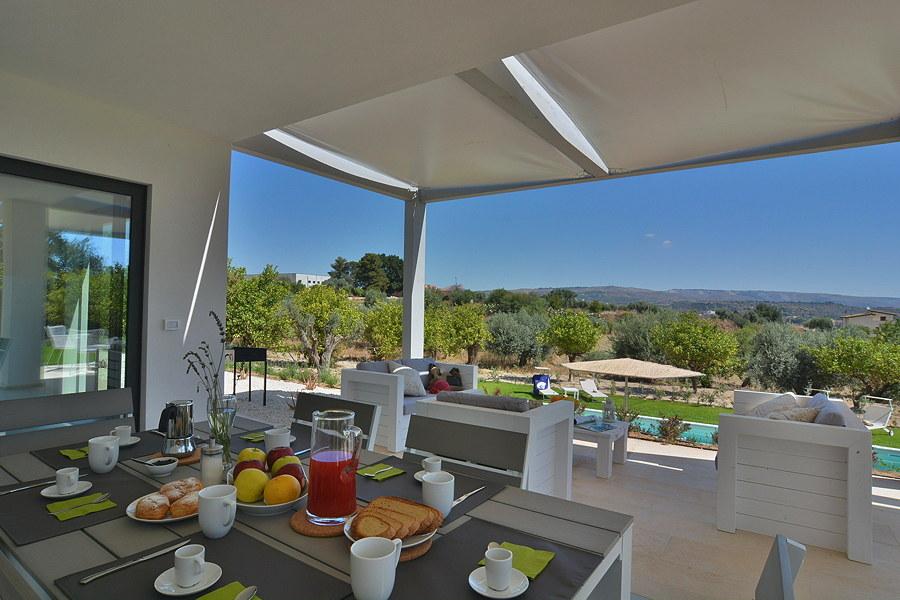Villa Almond Tree, Noto area, Sicily, from the patio