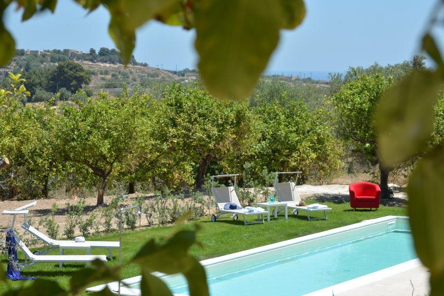 Villa Almond Tree, Noto area, Sicily, the swimming pool