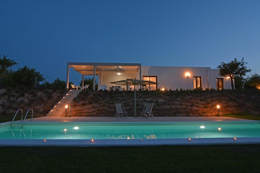 Villa Almond Tree, Noto area, Sicily, in the evening