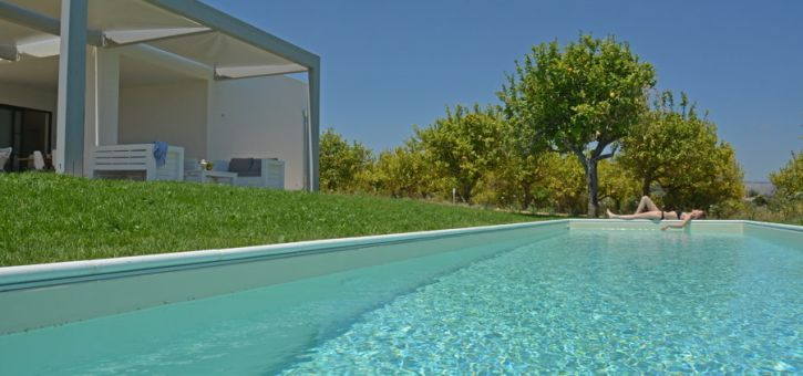 Villa Lemon Tree, Noto are, Sicily, from the swimming pool