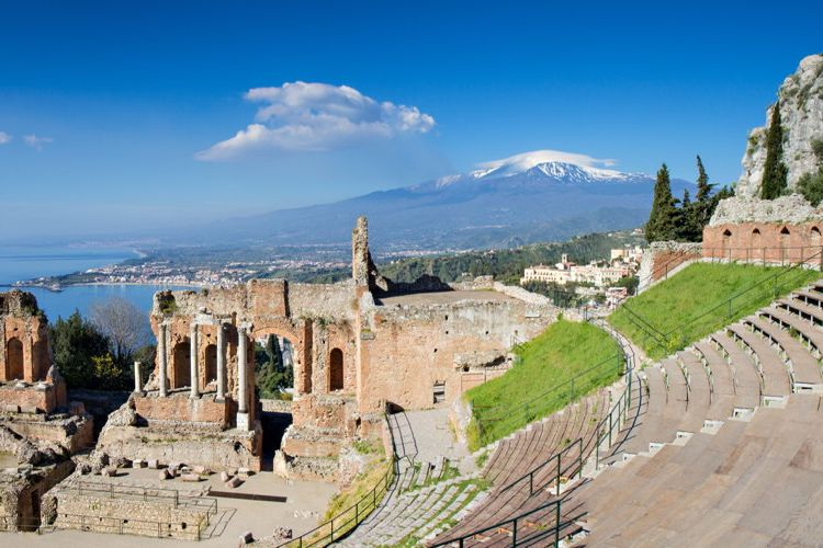 Greek theatre in Taormina, Sicily