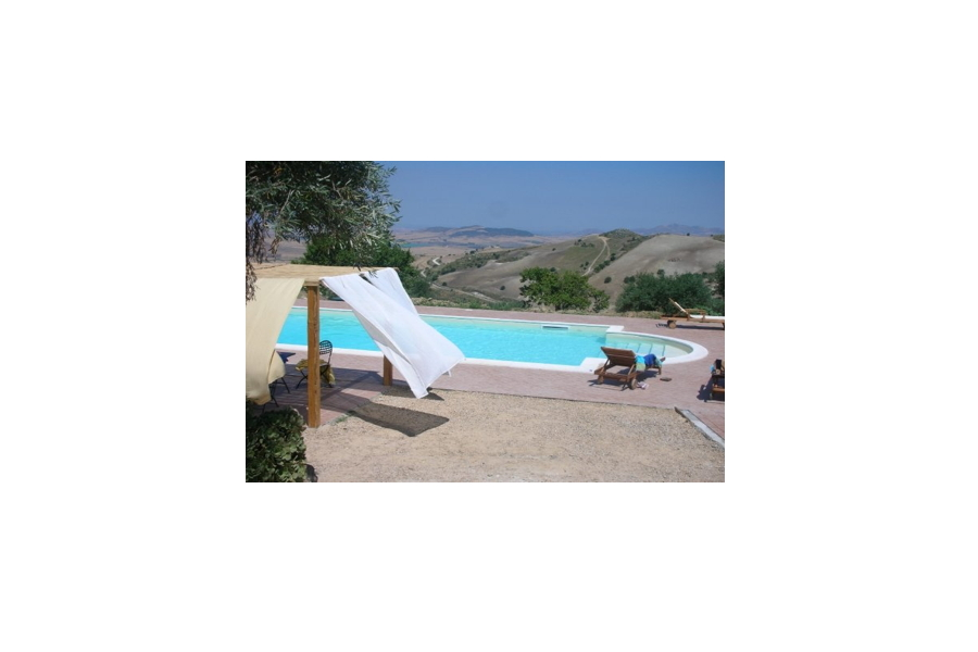 Country House Aidone, Sicily, view from the pool