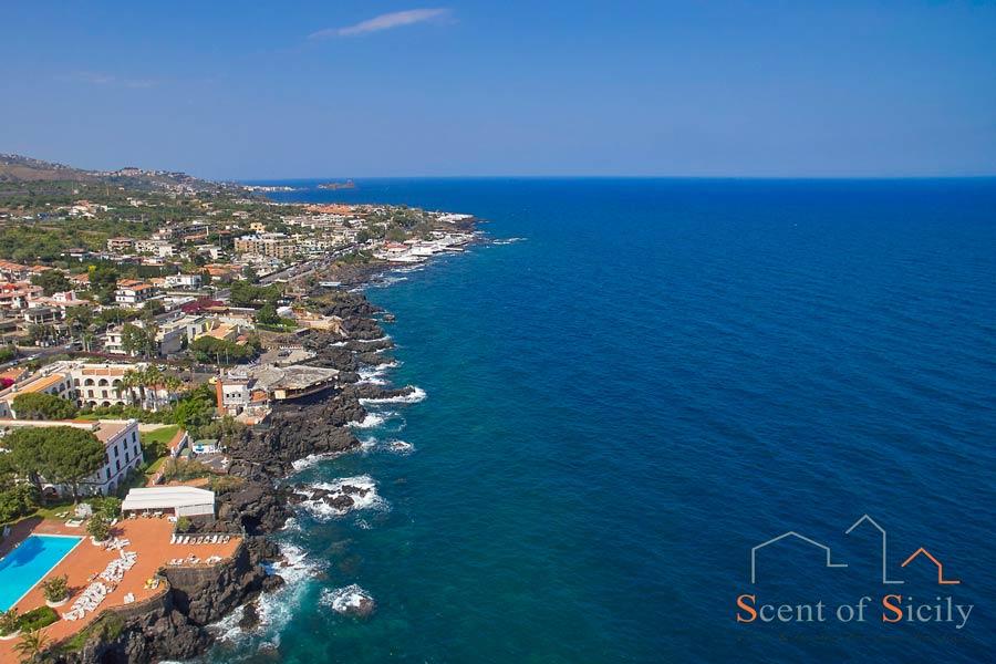 Acicastello, Sicily sea view