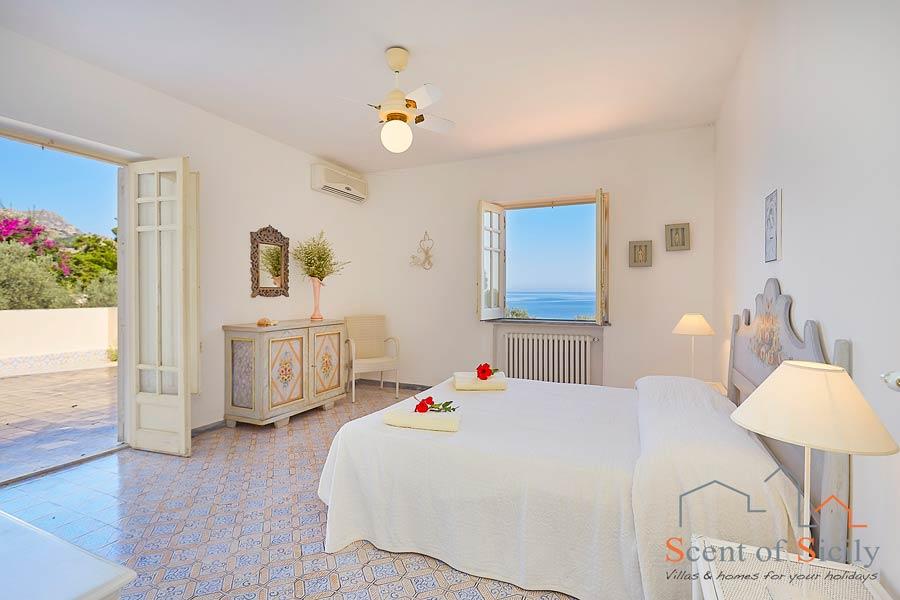 Villa Angela Blu, Santaflavia, Sicily, view from the master bedroom