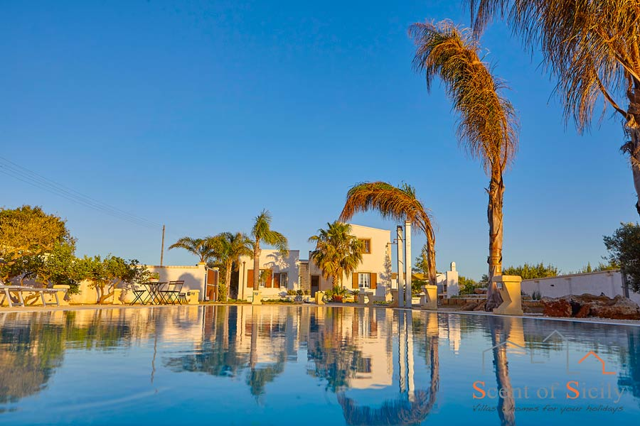 Villa del Tufo, Marsala, Sicily, view from the pool
