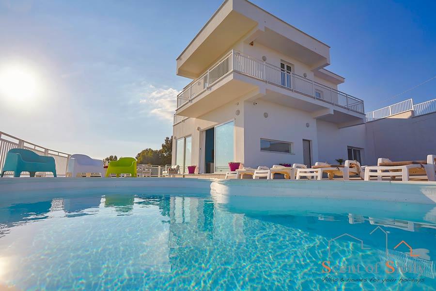 Villa Air, Favara, Sicily, view from the pool