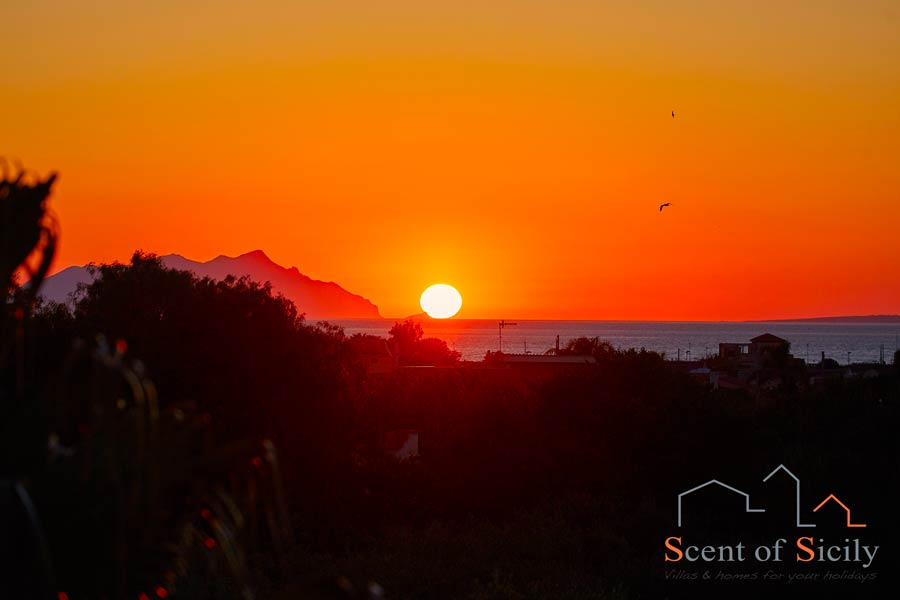 Marsala, Sicily, the stunning sunset
