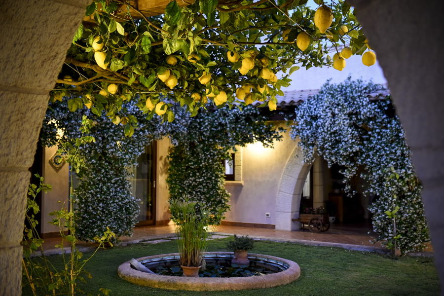 Villa Kalsa the natural perfumes of the courtyard