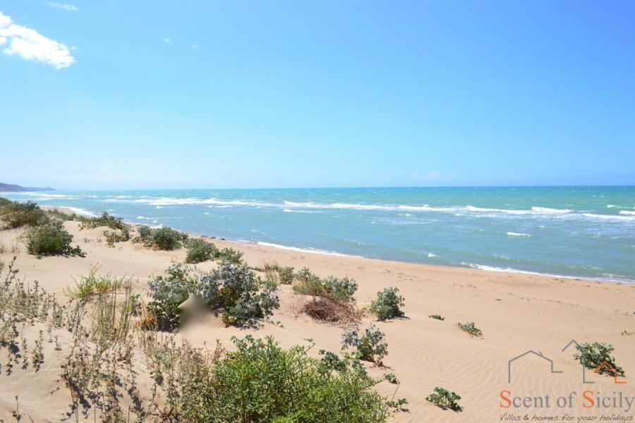 Sicily sandy beach