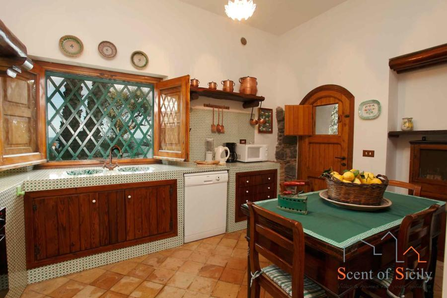 Sea Terrace , Torre Archirafi Eastern Sicily the kitchen