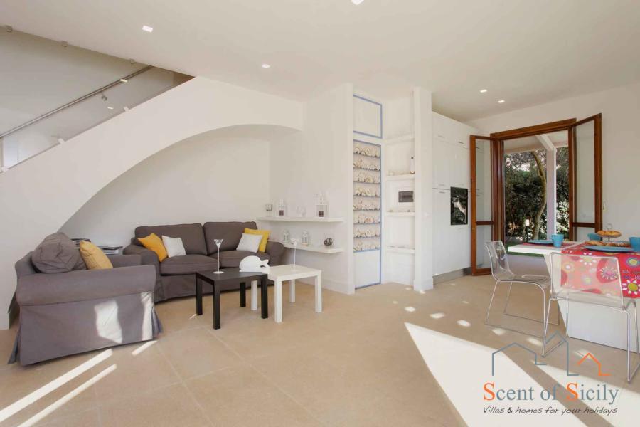 Living room in Villa dei Coralli, Marsala Western Sicily
