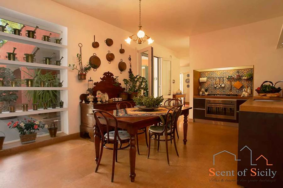 Luxury kitchen in villa Lilybeum Marsala Western Sicily