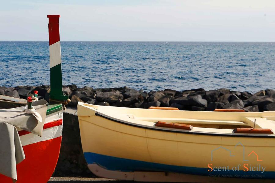 Boats in Torre Archirafi, Sicily Eastern Sicily