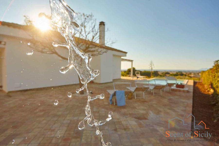 Pool shower in Villa Dorotea Marsala Western Sicily
