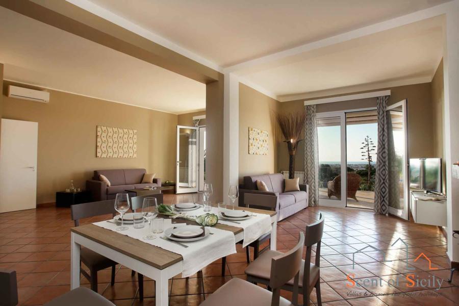 Living room in Villa Dorotea Marsala Western Sicily