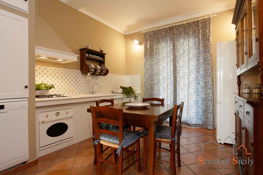 Kitchen in Villa Dorotea Marsala Western Sicily