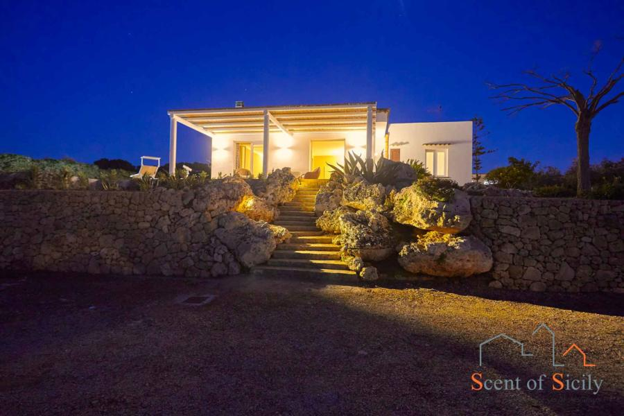 Evening view of Villa Dorotea, Marsala Western Sicily