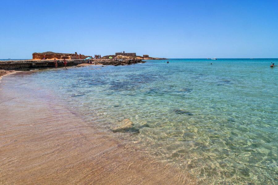 Blue sea Sicily