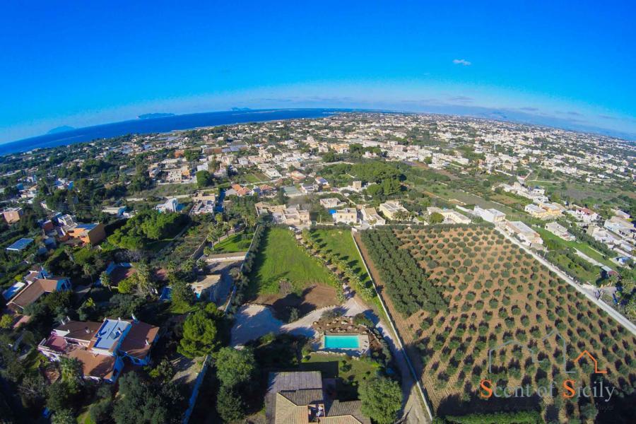 Sky view of  Villa Panorana, Marsala Western Sicily