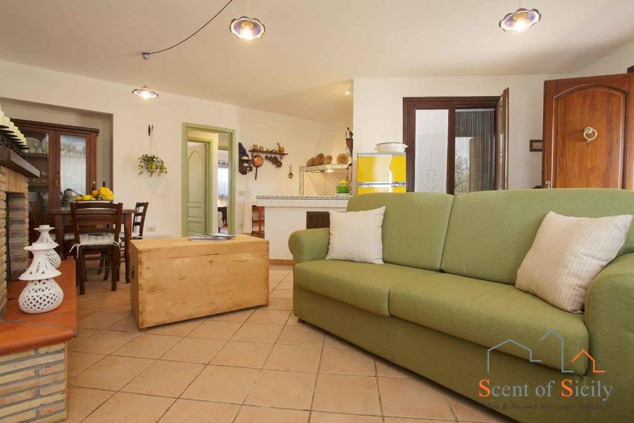 Lliving room in Villa Gio, Marsala, Western Sicily - mainhouse