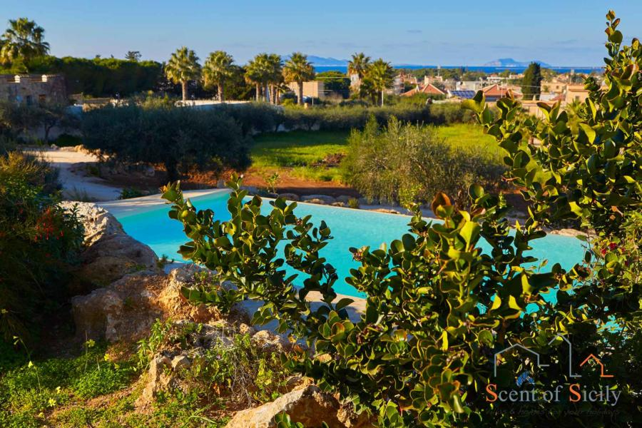 Green view in Villa Panorana, Marsala Western Sicily