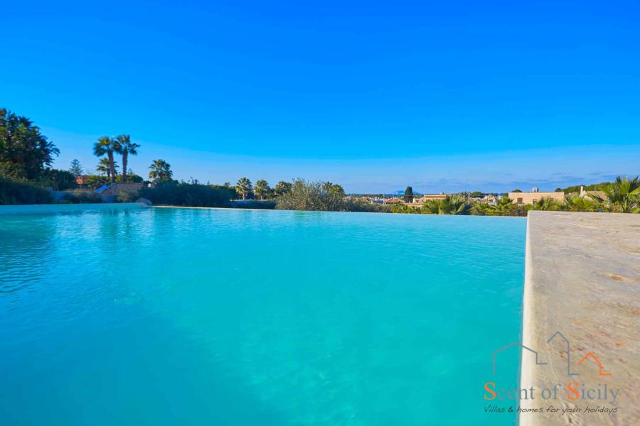 Pool view in Villa Panorana, Marsala Western Sicily