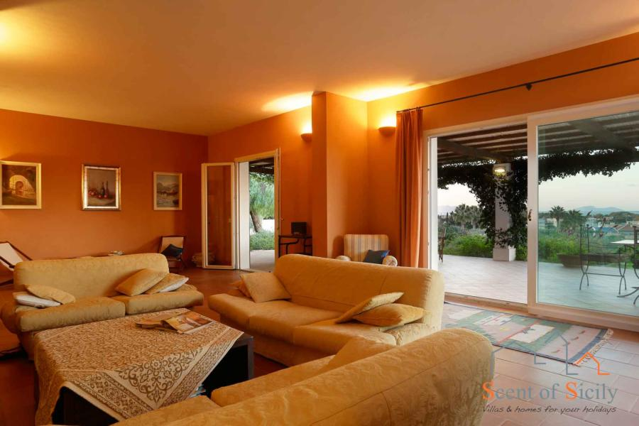 Living room of  Villa Panorana, Marsala Western Sicily