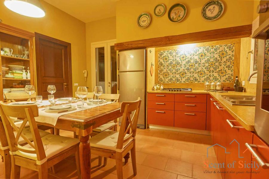 Kitchen of  Villa Panorana, Marsala Western Sicily