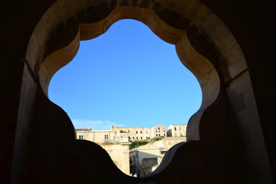 View of a locality of Baroque Sicily