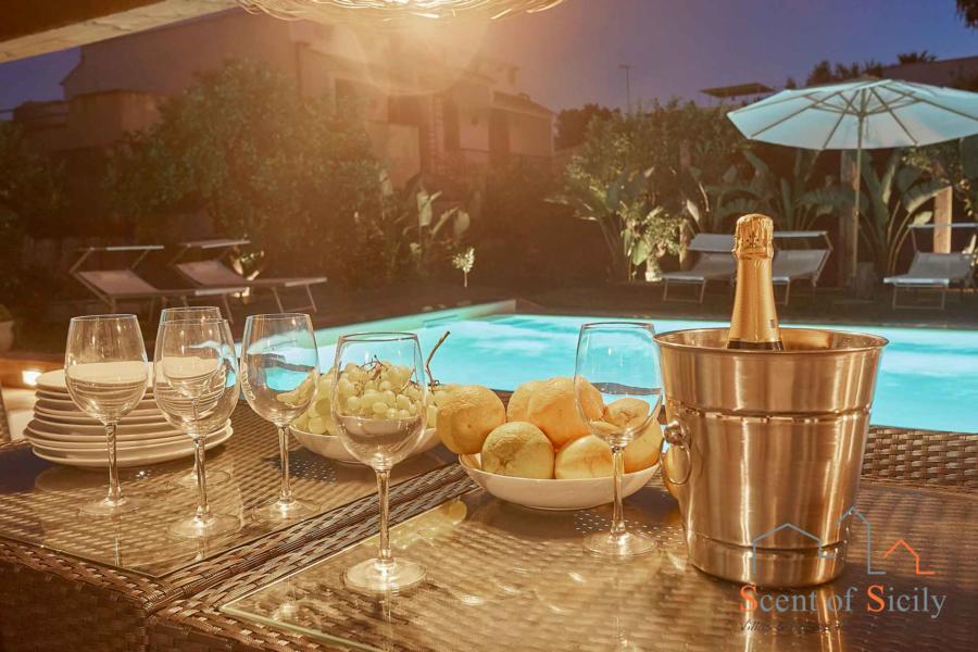 Evening in Villa Fontane Bianche, Siracusa