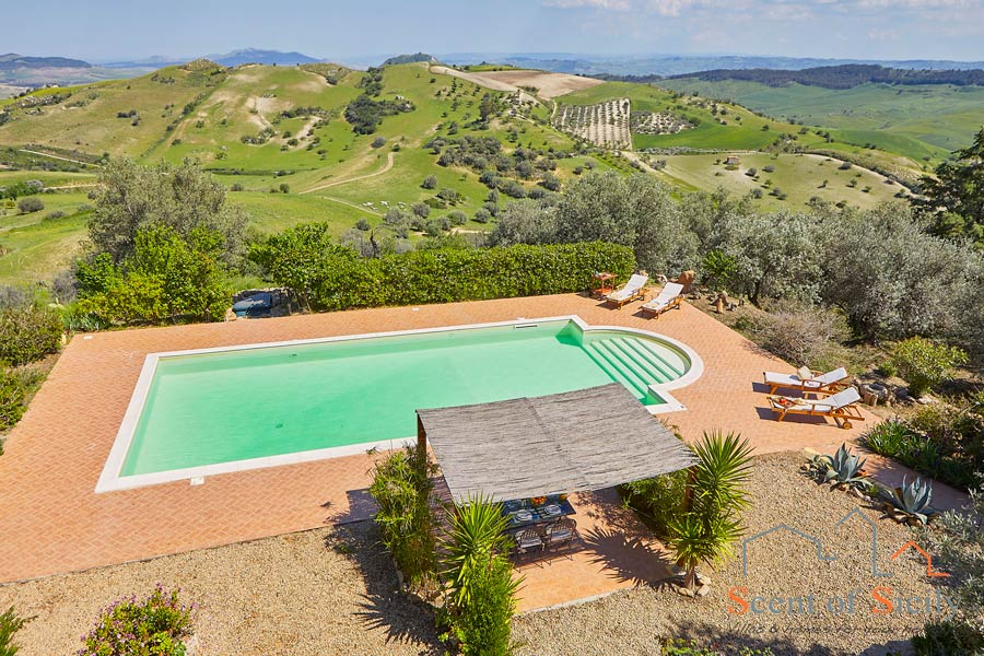 Country House Aidone pool, Aidone / Morgantina, Sicily
