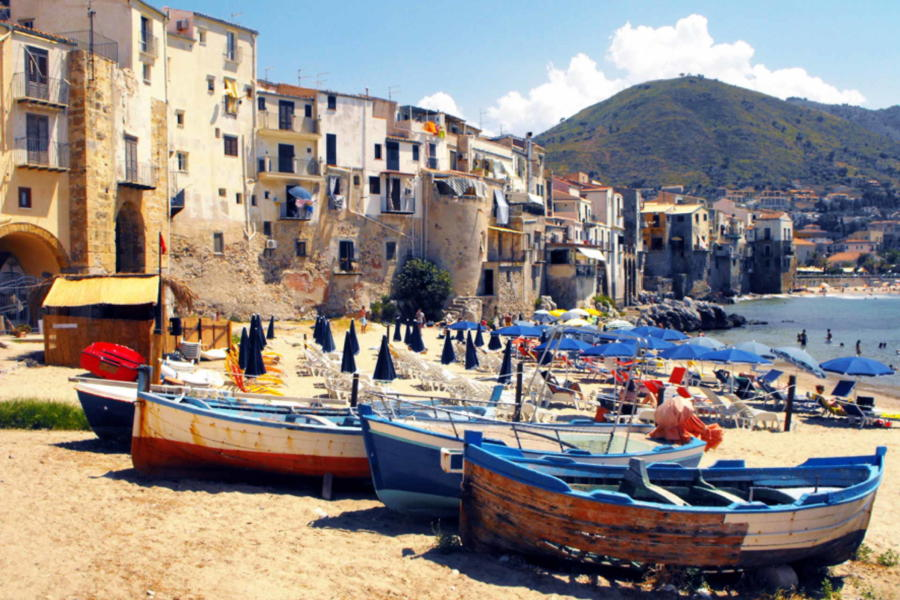 Fishing boats in Cefalu, Sicily