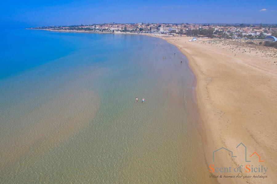 wonderful sandy beach Sicily